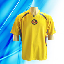 100% Polyester Man′s Short Sleeve Dyed Soccer Jersey