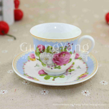 China Nueva Bone China Porcelana De Cerámica De Café Taza Y Platillo