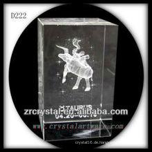 K9 3D Laser Untergrund Taurus Innen Kristall Rechteck