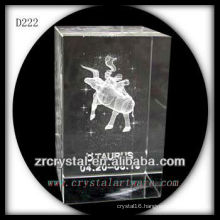 K9 3D Laser Subsurface Taurus Inside Crystal Rectangle