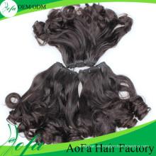 Extensión del cabello de la Virgen Remy de calidad superior 100% Extensión del cabello humano