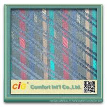 Tissu en polyester teint en fil pour auto-rembourrage