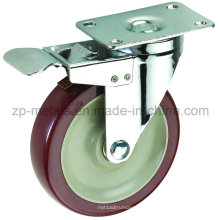 Roues de roulette Biaxiale de taille moyenne en PVC Biaxial de 3 pouces avec frein