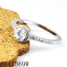 Moda jóias anel de diamante de prata 925