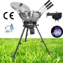 Gas Stove Gas Burner Carbon Wok Kit Spoon, Skimmer, Spatula