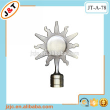 telescopic curtain rod with sun flower /leaf finial