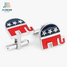 Best Sell Alloy Casting Enamel USA Promotion Metal Men′s Cufflink