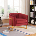 Chinese Modern velvet fabric Metal Feet sedie upholstered home Furniture living room Accent Chair