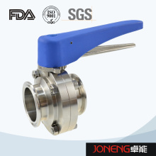 Stainless Steel Plastic Handle Clamped Food Processing Butterfly Valve (JN-BV2004)