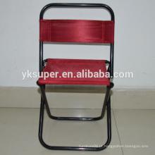 Cadeira de pesca de metal dobrado / fezes de pesca com mochila