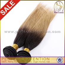 Горячие Продажа цветных бразильский волос два тон волос ткать