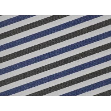 Holzkohle/Navy Streifen bequem CVC Shirt Stoff