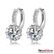 Female Round Zircon Drop Earrings (CER0149)