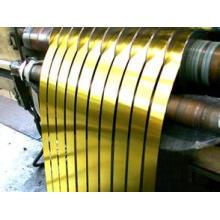 Tira de aço grossa dourada do folha-de-flandres de 0.18mm Lacqueced