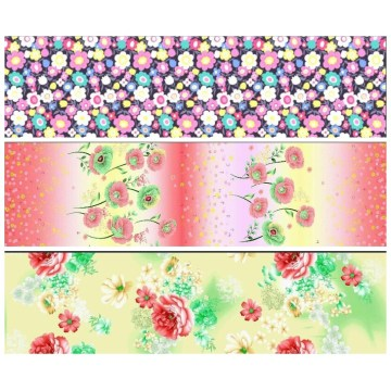 60 % polyester 40 % coton tissu imprimé