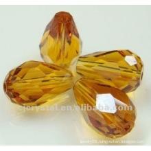 Yellow teardrop acrylic bead