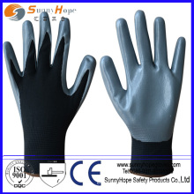 13 gauge palm coated nitrile coated nylon work gloves