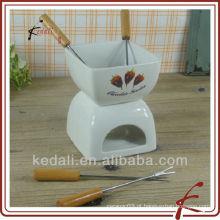 TOS026-4.5-A303-2 Conjunto de fondue de chocolate quente com forquilha