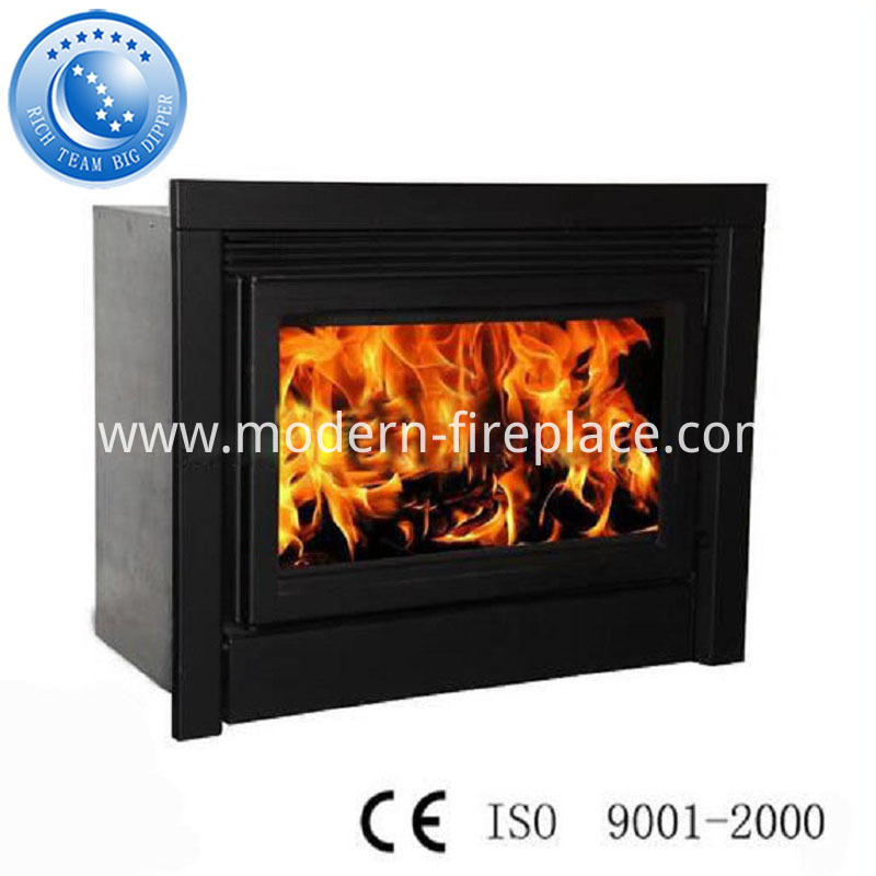 Wood Fireplace Steel Plate Insert With Fan