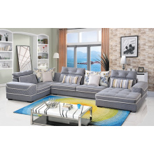 Living Room Furniture Fabric Sofa Set 3 Seater Corner Sofa