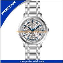 Relógio de pulso de aço inoxidável de alta qualidade relógio de quartzo impermeável