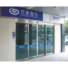 Automatic bank cabin door system