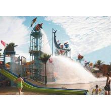 Water Playground Equipment With Fiberglass Spiral Water Sli
