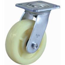 Roulette pivotante a-Nylon Heavy Duty (jaune blanc)