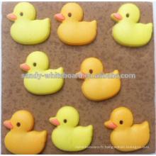 Goupilles dédiées au liège de canard jaune