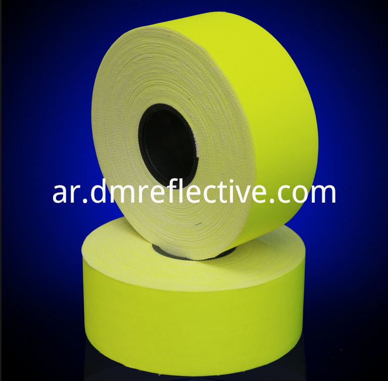 Cotton Yellow Fire Retardant Reflective Tape