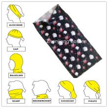 Custom Made Skull Impreso Headwrap Multifuncional Biker Headband Jefe Bufanda