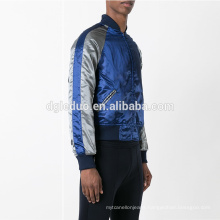 Custom polyester autumn outdoor wear blue men bomber jacket