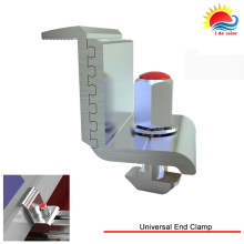New Design Adjustable End Clamp with Solar Mounting System (302-0001)