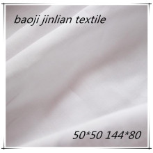 100%Combed Cotton Bleached  White Fabric For Garment