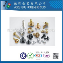 Made in Taiwan Phillips Pozi Slotted Binding Button Head Screws and Customize with Terminal Wave Washers Assembled SEMS Screws
