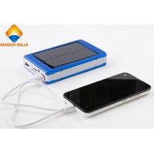 Poderoso carregador solar de liga de alumínio de 10000mAh