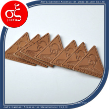 Parche de cuero repujado personalizado de la PU del logotipo del precio de fábrica