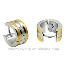Boucles d'oreilles pendentif en or plaqué or Huggie pour garçon HE-015