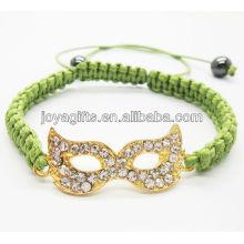 Bracelet shambala en alliage d'oeil en or
