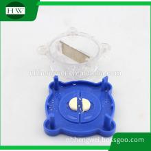 circular round shape plastic Medical pill cutter tablet cutter Dispenser pill box with cutter pill Splitter