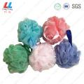Double mesh deep color bath ball