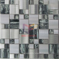 Amber Pattern Crystal Mix Stainless Steel Metal Mosaic (CFM901)