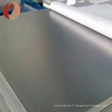 Baoji yunch haute pureté 99.95% plaque de zirconium à vendre