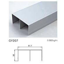 Pista de alumínio para porta deslizante guarda-roupa