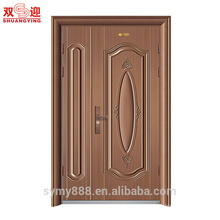 Exterior stainless security main one and half door leaf steel door