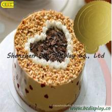 Beau et à la mode plateau de gâteau de couleur or Mono avec SGS (B & C-K045)