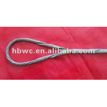 braçadeira pré-formada de cabo braçadeira de tensão final inoperante