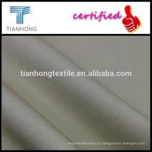 khachi solide coton sergé tissé de spandex tissu avec élasthane pour uniforme pantalon stretch