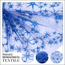 Oem Diferentes tipos de tecidos bordados azuis decorativos confortáveis