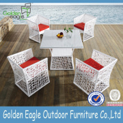 Modern Outdoor Backyard Wicker Patio Dining Set
